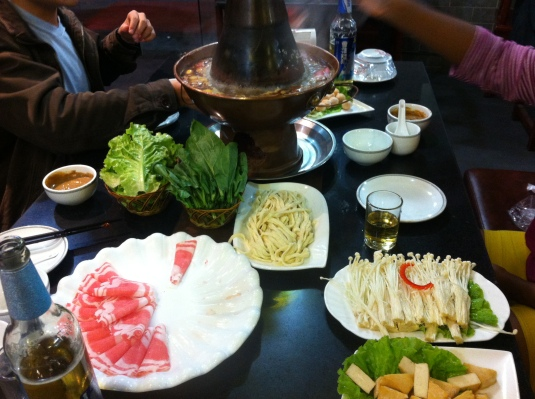 Hot Pot for dinner was....interesting.  It numbed your mouth.