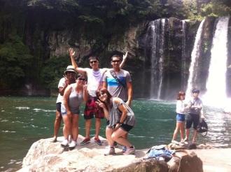 Cheonjeyeon Waterfall in Jeju Island